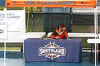 SAN ANTONIO, TX - APIL 23, 2007: The Texas A&M University Corpus Christi Islanders vs. The University of Texas at San Antonio Roadrunners at the Southland Conference Men's Tennis Championships at the UTSA Tennis Center. (Photo by Jeff Huehn)