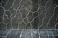 Cracks on the side wall of the fridge building.  Frigorifico (Slaughterhouse) Anglo, Fray Bentos, Rio Negro, Uruguay.  ..Rajaduras en la pared lateral del edificio de la cámara fría.  Frigorifico Anglo, Fray Bentos, Río Negro, Uruguay.