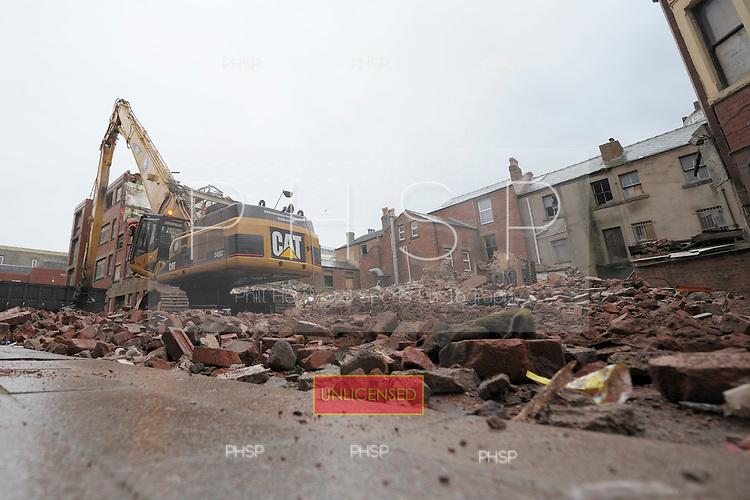 Adelaide Street/ Tower Street demolition Blackpool Lancashire UK......© Phill Heywood.