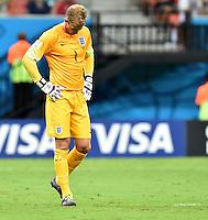 FUSSBALL WM 2014  VORRUNDE    Gruppe D     England - Italien                         14.06.2014 Torwart Joe Hart (England)