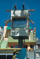 Modern Lifeguard Tower Residence, Marina Peninsula, CA, Houses, Home, Architectural, Exterior