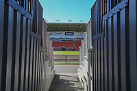 A general view of Bloomfield Road, home of Blackpool<br /> <br /> Photographer Alex Dodd/CameraSport<br /> <br /> The EFL Sky Bet League Two - Blackpool v Cheltenham Town - Saturday 22nd April 2017 - Bloomfield Road - Blackpool<br /> <br /> World Copyright &copy; 2017 CameraSport. All rights reserved. 43 Linden Ave. Countesthorpe. Leicester. England. LE8 5PG - Tel: +44 (0) 116 277 4147 - admin@camerasport.com - www.camerasport.com