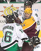 Ryan Duncan, Gino Guyer, Chris Porter - The University of Minnesota Golden Gophers defeated the University of North Dakota Fighting Sioux 4-3 on Saturday, December 10, 2005 completing a weekend sweep of the Fighting Sioux at the Ralph Engelstad Arena in Grand Forks, North Dakota.