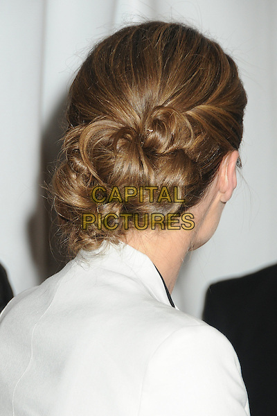 """Stana Katic.PaleyFest 2012 Presents """"Castle"""" held at The Saban Theatre, Beverly Hills, California, USA, 9th March 2012..portrait headshot hair up back rear behind white .CAP/ADM/BP.©Byron Purvis/AdMedia/Capital Pictures."""