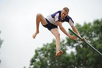 FIERLJEPPEN: IT HEIDENSKIP: 03-06-2013, 1e Klas wedstrijd, Junioren Topklasse, Sytse Bokma, ©foto Martin de Jong