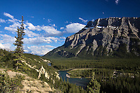 Hoodoos on Bow River Banff National Park, Alberta, Canada