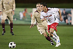 14 November 2008: Maryland's Doug Rodkey (5). The University of Maryland defeated Boston College 1-0 at WakeMed Stadium at WakeMed Soccer Park in Cary, NC in a men's ACC tournament semifinal game.