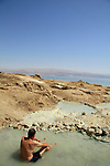 Hot spring at Nahal Kedem