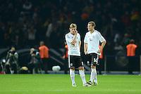 Fussball International  WM Qualifikation 2014   16.10.2012 Deutschland - Schweden Enttaeuschung Toni Kroos und Holger Badstuber (v. li., Deutschland)