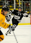 29 December 2007: Western Michigan University Broncos' defenseman Jordan Collins, a Sophomore from Novi, MI, in action against the Quinnipiac University Bobcats at Gutterson Fieldhouse in Burlington, Vermont. The Bobcats defeated the Broncos 2-1 in the first game of the Sheraton/TD Banknorth Catamount Cup Tournament...Mandatory Photo Credit: Ed Wolfstein Photo