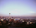 BI32,819-03...WASHINGTON - 1962 photograph of the Seattle skyline from Queen Ann Hill.