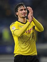 FUSSBALL   1. BUNDESLIGA   SAISON 2011/2012   18. SPIELTAG Hamburger SV - Borussia Dortmund     22.01.2012 Mats Hummels (Borussia Dortmund)