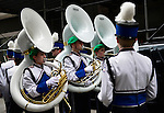 March 16, 2013 - New York, NY, U.S. - Danvers High School Band, MASS., gets ready to march in the 252nd annual NYC St. Patrick's Day Parade. Thousands of marchers show their Irish pride, as they march up Fifth Avenue, and over a million people, often in green and orange, watch and celebrate.