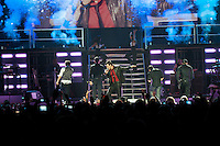 Eighties pop boy-band New Kids on the Block play live during a stop on their reunion tour, Friday, Nov 21, 2008, at GM Place in Vancouver. (Scott Alexander/pressphotointl.com