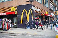 A McDonald's restaurant in Midtown Manhattan in New York on Sunday, February 5, 2017. (© Richard B. Levine)