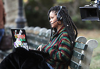 NEW YORK, NY November 07: Rihanna shooting on location for Ocean 8 in Central Park New York .November 07, 2016. Credit:RW/MediaPunch