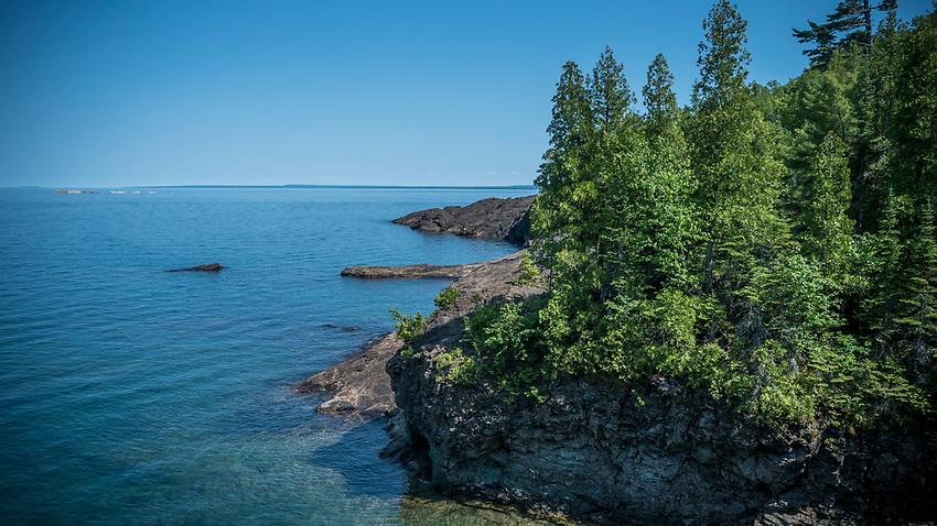 Blackrocks area of Presque Isle Park on Lake Superior in Marquette, Michigan.