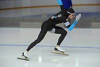 SCHAATSEN: CALGARY: Olympic Oval, 08-11-2013, Essent ISU World Cup, 500m, Tucker Fredricks (USA), ©foto Martin de Jong