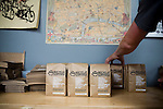 Bicycle Coffee Company is a San Francisco start-up taking green to a new level, by delivering hand-roasted coffee to over 100 local businesses, in addition to Whole Foods, by bicycle only, on Monday, April 4, 2011.  Lianne Milton for The Wall Street Journal.Bay Area - Coffee Status