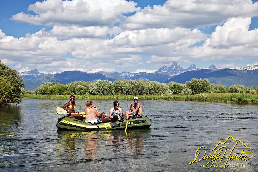 Rafters, Teton River, Grand Tetons, Teton Valley, Idaho