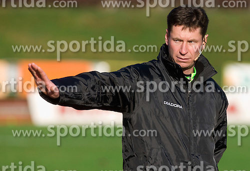 Referee Vojko Gorican at  football match of 21st Round of First League between NK Olimpija and NK Rudar Velenje, on December 2, 2009,  in ZSD Ljubljana, Ljubljana, Slovenia.  Rudar defeated Olimpija 1:0. (Photo by Vid Ponikvar / Sportida)