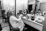 Las Vegas, Nevada, USA, December, 1982 - French Singer Sylvie Vartan in her dressing room in between performances at the MGM Hotel in Las Vegas.