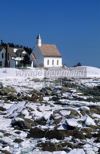 Amérique/Amérique du Nord/Canada/Quebec/Charlevoix : Port-au-Persil sur le Saint-Laurent