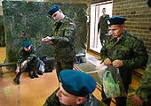 The last draft.<br /> Young Poles who have just arrived to the military base, are putting their new army uniforms on.<br /> Bartoszyce, Poland, June 2008<br /> (Photo by Piotr Malecki / Napo Images)<br /> <br /> Ostatni pobor.<br /> Wcielenie do jednostki w Bartoszycach, poborowi zakladaja swoje nowe mundury.<br /> 5/2008<br /> Fot: Piotr Malecki / Napo Images