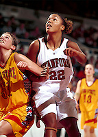 STANFORD, CA - NOVEMBER 21: Enjoli Izidor of the Stanford Cardinal during Stanford's 95-82 win over the Iowa State Cyclones on November 21, 1999 at Maples Pavilion in Stanford, California.
