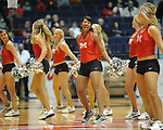 Rebelettes dance at Ole Miss vs. Arkansas Little Rock at the C.M. &quot;Tad&quot; Smith Coliseum in Oxford, Miss. on Friday, November 16, 2012. Ole Miss won 92-52.