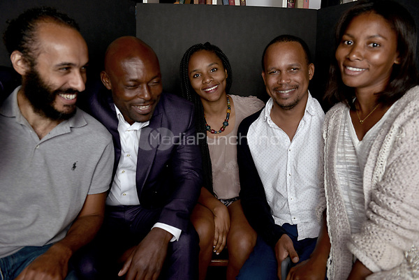 MIAMI BEACH, FL - MARCH 05: Producer Alexander Younis, actor Jimmy Jean-Louis, Gessica Geneus, director Kareem Mortimer and actress Sky Nicole Grey from the film 'Cargo' poses for a portrait in the Vallerymag.com Portrait Studio during the 2017 Miami Dade College's 34th Miami Film Festival portrait at The Standard Hotel on March 5, 2017 in Miami Beach, Florida. Credit: MPI10 / MediaPunch