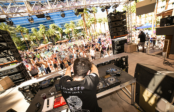 LAS VEGAS, NV - MAY 14:  ***HOUSE COVERAGE*** 3LAU dj set at Rehab Beach Club at The Hard Rock Hotel & Casino in Las Vegas, Nevada on May 14, 2017. Credit: GDP Photos/MediaPunch