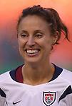 16 October 2004, Kate Markgraf of the U.S. Women's National Team in their 1-0 defeat of Mexico at Arrowhead Stadium, Kansas City, Missouri..
