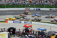 30 March - 1 April, 2012, Martinsville, Virginia USA.AJ Allmendinger, Dale Earnhardt Jr., Jeff Gordon, Denny Hamlin, FedEx Freight Toyota Camry, Martin Truex Jr., Brad Keselowski, Matt Kenseth, Clint Bowyer, spin,.(c)2012, Scott LePage.LAT Photo USA