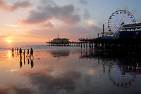 The sunset in Santa Monica on Thursday, December 23, 2010.