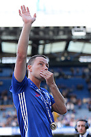 Chelsea's John Terry bids an emotional farewell to Stamford Bridge after the match during Chelsea vs Sunderland AFC, Premier League Football at Stamford Bridge on 21st May 2017