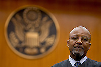Federal judge Napoleon Jones in his courtroom in San Diego Federal Court. December 14, 2004