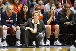 21 December 2007: Bucknell head coach Kathy Fedorjaka. The Duke University Blue Devils defeated the Bucknell University Bisons 92-49 at Cameron Indoor Stadium in Durham, North Carolina in an NCAA Division I Women's College Basketball game.
