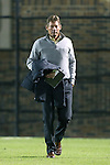 25 October 2013: Wake Forest head coach Jay Vidovich. The Duke University Blue Devils hosted the Wake Forest University Demon Deacons at Koskinen Stadium in Durham, NC in a 2013 NCAA Division I Men's Soccer match. The game ended in a 2-2 tie after two overtimes.