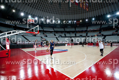 Charles Smith of Lottomatica during practice session of basketball club Lottomatica Roma day before Euroleague Top 16 Round Match vs KK Union Olimpija Ljubljana, on January 19, 2011 in Arena PalaLottomatica, Rome, Italy. (Photo By Vid Ponikvar / Sportida.com)