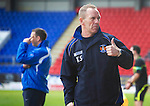 St Johnstone v Kilmarnock....02.04.11 .Caretaker Kilmarnock manager Kenny Shiels gives the thumbs up.Picture by Graeme Hart..Copyright Perthshire Picture Agency.Tel: 01738 623350  Mobile: 07990 594431