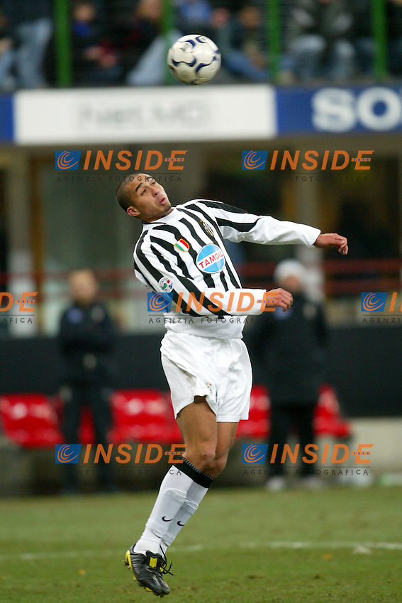 Milano 12/2/2004 Coppa Italia - Italy Cup - Semifinale <br /> Inter - Juventus 2-2 (6-7 after penalties) <br /> David Trezeguet (Juventus)<br /> Photo Andrea Staccioli Insidefoto