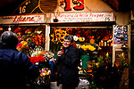 A woman trade with flowers at her store in Bogota, Colombia. 29/02/2012.  Photo by Eduardo Munoz Alvarez / VIEWpress.