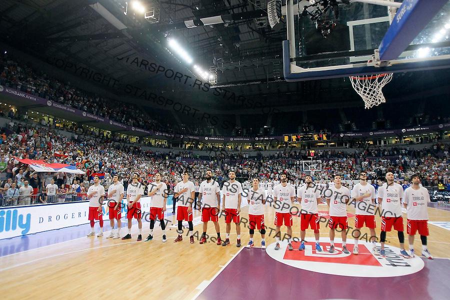 Kosarka Srbija - Francuska prijateljska 25.6.1016. JUN 25. 2016. (credit image & photo: Pedja Milosavljevic / STARSPORT)
