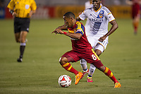 CARSON, CA - March 8, 2014: Real Salt Lake forward Joao Plata (8) during the LA Galaxy vs Real Salt Lake match at the StubHub Center in Carson, California. Final score, LA Galaxy 0, Real Salt Lake  1.
