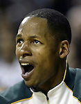 .Seattle SuperSonics Ray Allen shows his frustration for Sonics defensive play against the Los Angeles Clippers in the third period on Friday, April 14, 2006 at the Key Arena in Seattle.   Jim Bryant Photo. &copy;2010. All Rights Reserved.