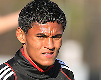 Andy Najar#14 of D.C. United during the final round of the Carolina Challenge Cup against Toronto FC on March 12 2011 at Blackbaud Stadium in Charleston, South Carolina. D.C. The game ended in a 2-2 tie which was sufficient for D.C. United to win the tournament.