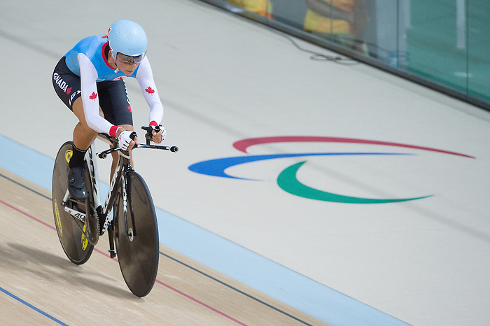 RIO DE JANEIRO - 6/9/2016:  Nicole Clermont during track cycling training at the Paralympic Village at the Rio 2016 Paralympic Games. (Photo by Matthew Murnaghan/Canadian Paralympic Committee