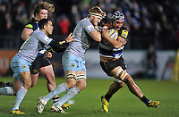 Leroy Houston of Bath Rugby takes on the Northampton Saints defence. Aviva Premiership match, between Bath Rugby and Northampton Saints on December 5, 2015 at the Recreation Ground in Bath, England. Photo by: Patrick Khachfe / Onside Images