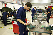 In the workshop, Motor Mechanics, Further Education College.